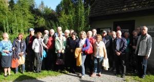 Gruppe beim Bauernhaus-Museum Wolfegg