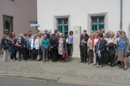 Denkmal Bernhardi, Reisegruppe in Kemberg